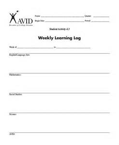 student learning log template learning log template 10 free word excel pdf document