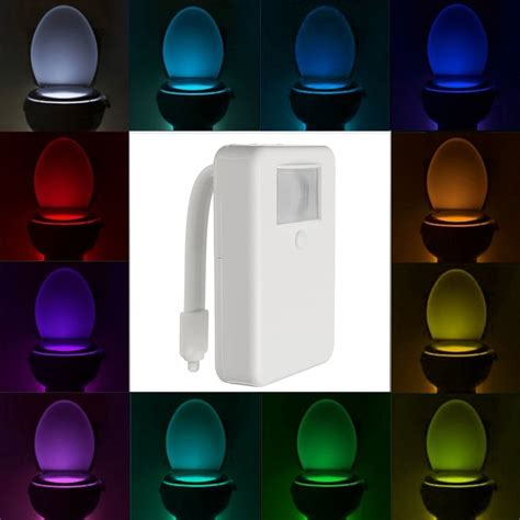 bathroom night lights 16 color motion activated led toilet sensor night light