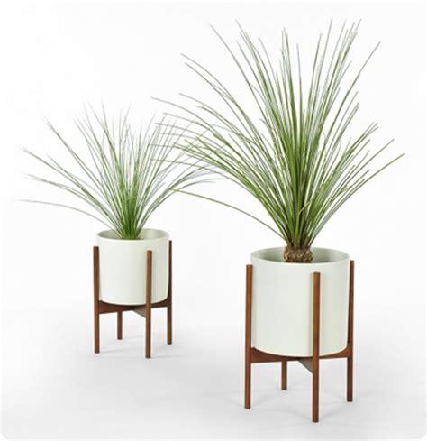Ballard Design Ottoman wood planter stands