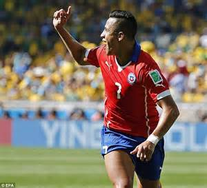 alexis sanchez goal liverpool brazil 1 1 chile 3 2 on pens player ratings neymar and