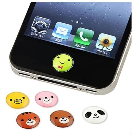 Home Button Iphone Tombol Stiker Glossy lot home button sticker for blackberry htc iphone 5 6 4s 2 3 4 ebay