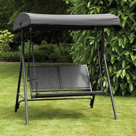 2 seater swing hammock royalcraft black textilene 2 seat swing hammock with
