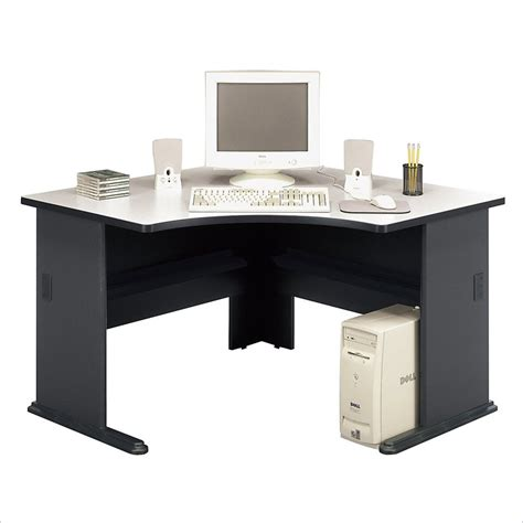 bush furniture office pro 48 quot corner wood slate computer desk