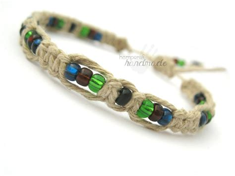 hemp bracelet with earth colors macrame hemp bracelet