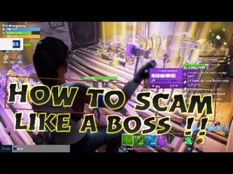 fortnite like a how to scam like a fortnite save the world must