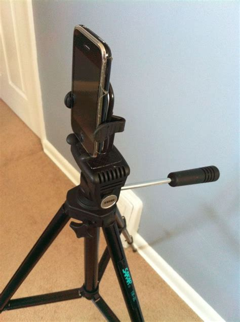 diy iphone smartphone tripod connector phone tripod