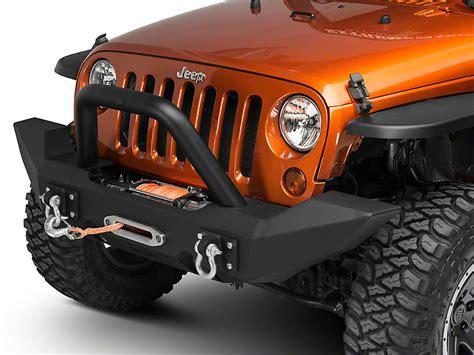 jeep jk grill light bar off camber fabrications by mbrp wrangler bumper light bar