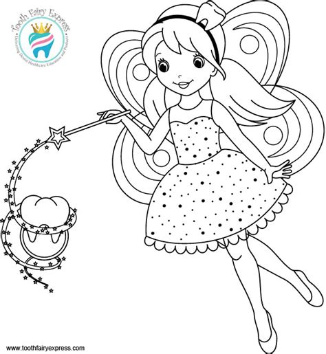 coloring page of tooth fairy tooth fairy coloring pages printable printable coloring page