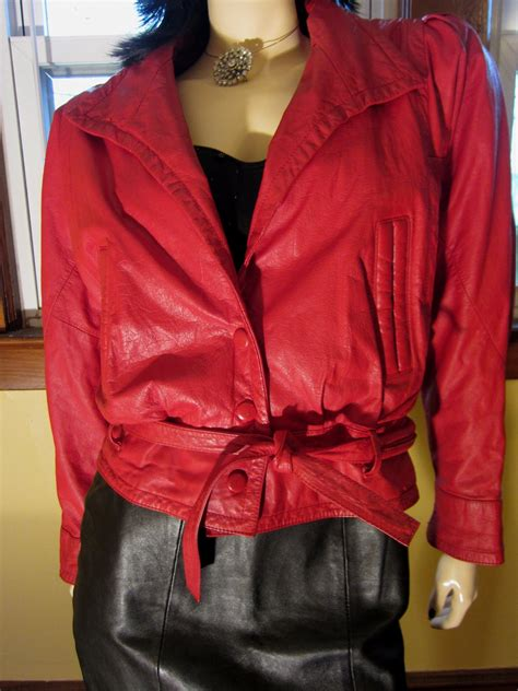 Shopping Amanda Wakeley Batwing Sleeve Leather Jacket by Vintage 80s Disco Cherry Batwing Sleeve