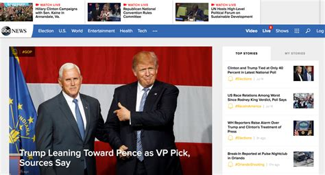Design Apps Free abc news revamps homepage apps on tv news insider