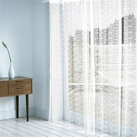 sheer curtains pattern timeless white sheer curtain with delicate floral patterns