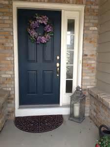 Front door with one sidelight black doors exterior house front door