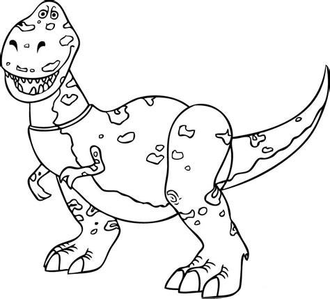 rex from toy story coloring child coloring