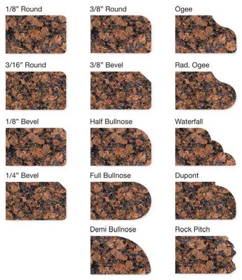 Granite Countertop Profiles by Granite Edge Profiles Center