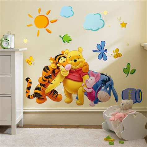 winnie the pooh stickers for walls winnie the pooh friends wall stickers