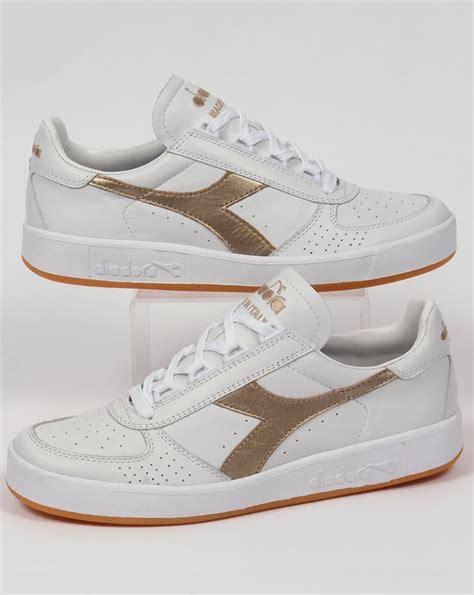 Diadora Clasic Original diadora b elite italia trainers white gold borg leather shoes mens