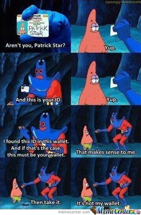 patrick star wallet meme by starbladebuster on deviantart