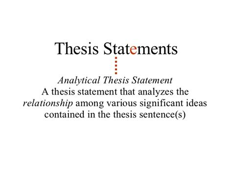 Analytical Essay Thesis Exle by Lesson 5 Thesis Statements