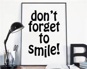 Office Desk Quotes Dont Forget To Smile Etsy