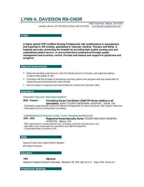 Nurse Resume   Nursing Resume Writing Tips   Sample