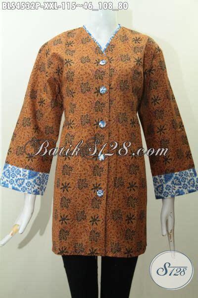 desain baju batik buat orang gendut baju blus 3l desain mewah harga murah pakaian batik