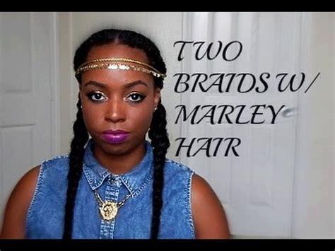 goddess braids using bob marley hair youtube natural hair two braids with marley hair youtube