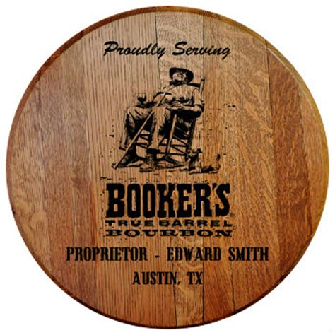 personalized bookers barrel head sign