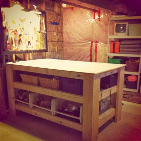 diy island bench white wood diy workbench island for under 150
