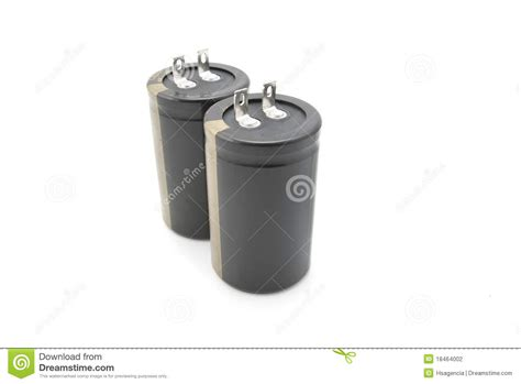 capacitor used in flash black electrolytic capacitor for flash stock photography image 18464002