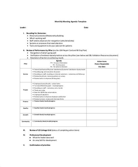 meetings agenda delli beriberi co