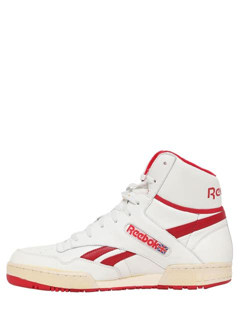 basketball shoes replica reebok 90 replica basketball sneakers in white for lyst