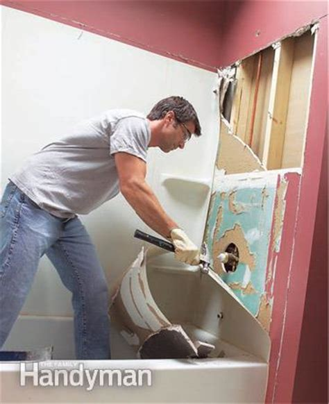 how to install a acrylic bathtub install an acrylic tub and tub surround the family handyman