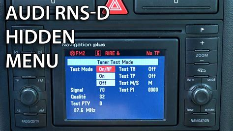 Audi Navigation Plus Code by How To Enter Service Menu In Rns D Navigation Plus