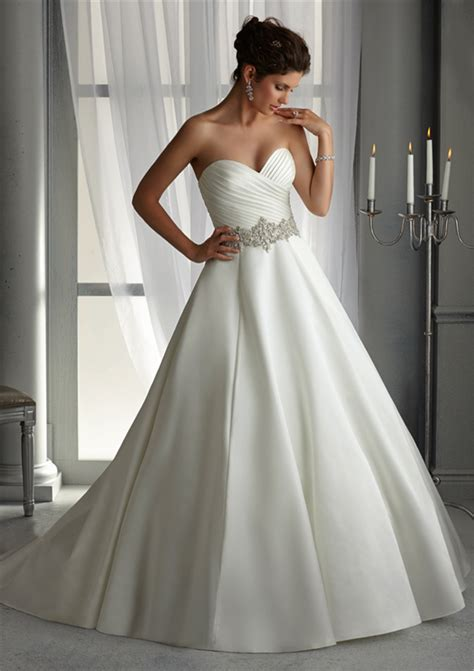 Satin Wedding Dresses by Plus Size Satin Wedding Dresses With Pleating White Ivory
