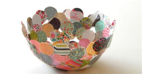 How To Make Something Out Of Paper Mache - paper mache confetti bowl hometalk