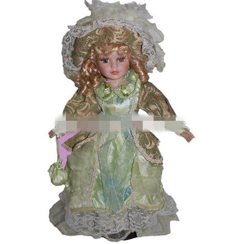 porcelain doll green dress 40cm retro porcelain doll green dress ceramic dolls