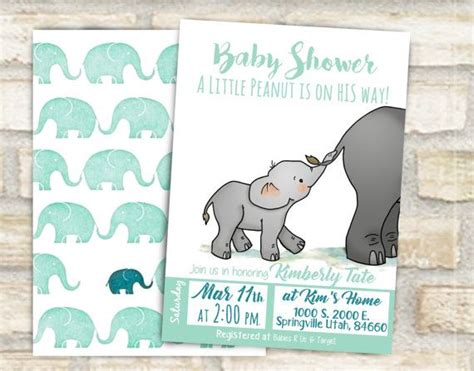 Elephant Themed Baby Shower Invitations by Best 25 Elephant Shower Ideas On Elephant