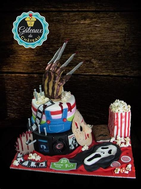 birthday themed horror movies horror movie birthday cake cake by les g 226 teaux du