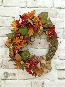 Fall Front Door Wreaths Fall Wreath For Door Front Door Wreath Fall By Adorabellawreaths