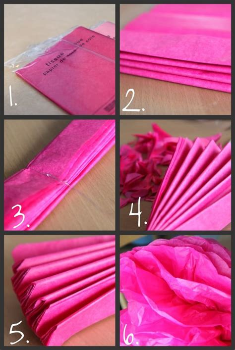 How To Make Tissue Paper Pom Pom - tissue paper pom pom tutorial craft ideas