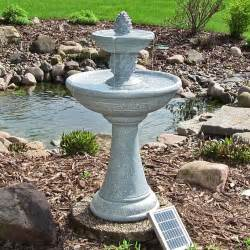 backyard fountains water continuous solar 2 pineapple tiered outdoor