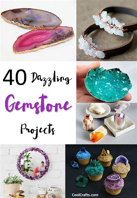 40 dazzling diy gemstone projects craft ideas diy