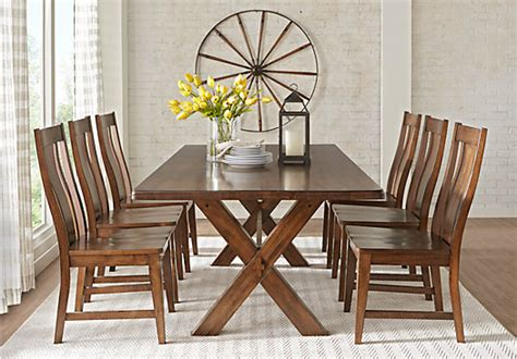 rectangle dining room sets lakes brown 5 pc 84 in rectangle dining room rustic