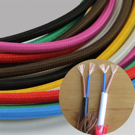 electric cable colors color retro electric wire vintage fabric electrical cable electrical cable woven braided