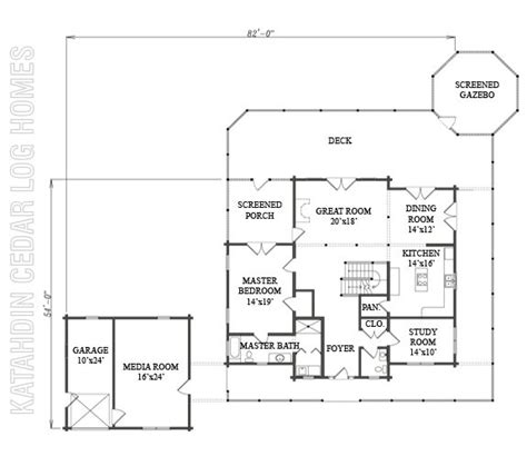katahdin log home floor plans log home plan 09964 katahdin