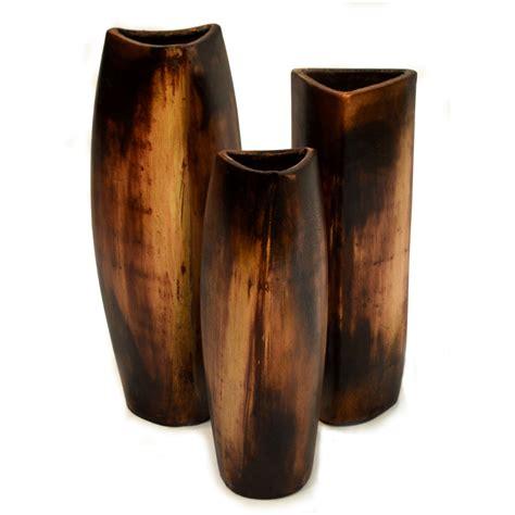 Brown Decorative Vase Brown Mini Arbol Vases Set Of 3