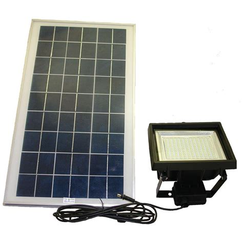 Outdoor Solar Led Flood Lights Solar Goes Green Solar Black 156 Smd Led Outdoor Flood Light With Remote Timer Sgg F156