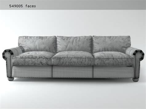 lancaster leather sofa 96 quot lancaster leather sofa 3d model restoration hardware