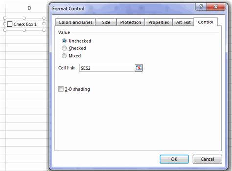 format excel cell as checkbox how to insert a checkbox in excel