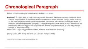 chronological order essay definition